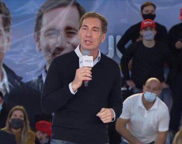Diego Santilli en el cierre de la campaña de Juntos: El Gobierno avasalló todo