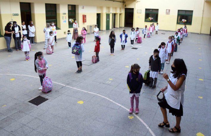 Las escuelas de la Ciudad empezaron el año con clases presenciales