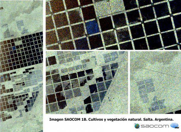 Vegetación natural y cultivos en la provincia de Salta, vista por el SAOCOM 1B el 18 de septiembre