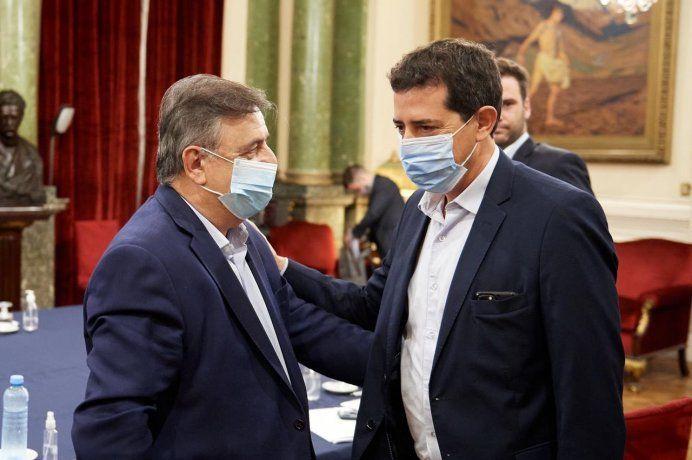 Mario Negri y Eduardo Wado de Pedro