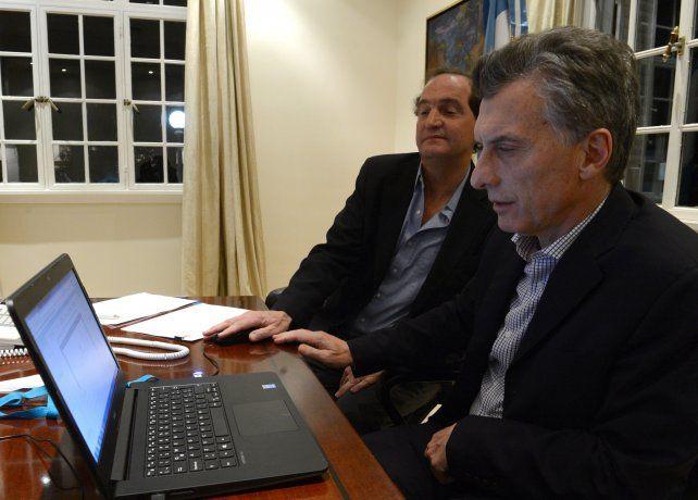Mauricio Macri y el ex secretario Legal y Técnico