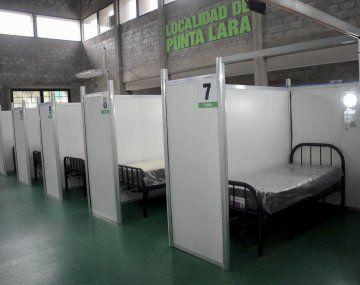 Montaron un hospital de campaña en el polideportivo Diego Maradona para atención extrahospitalaria