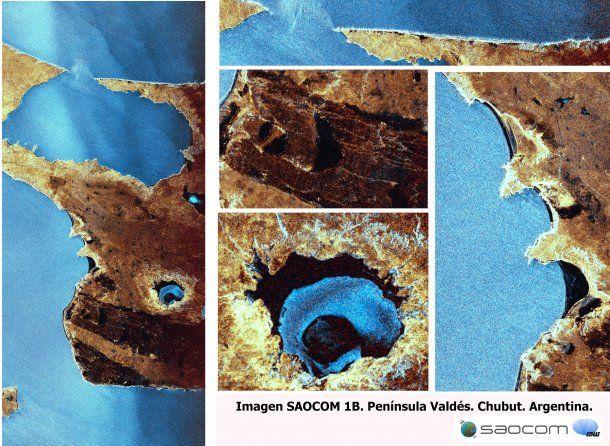 Día Mundial de la Ciencia: agua y erosión en la Península de Valdés, Provincia del Chubut., vista por el SAOCOM 1B el 12 de septiembre