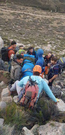 Mendoza: un escalador cayó desde una montaña y se salvó