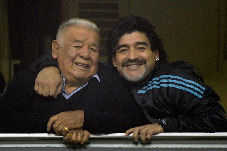 Emotivo mensaje de Maradona a su papá en el Día del Trabajador