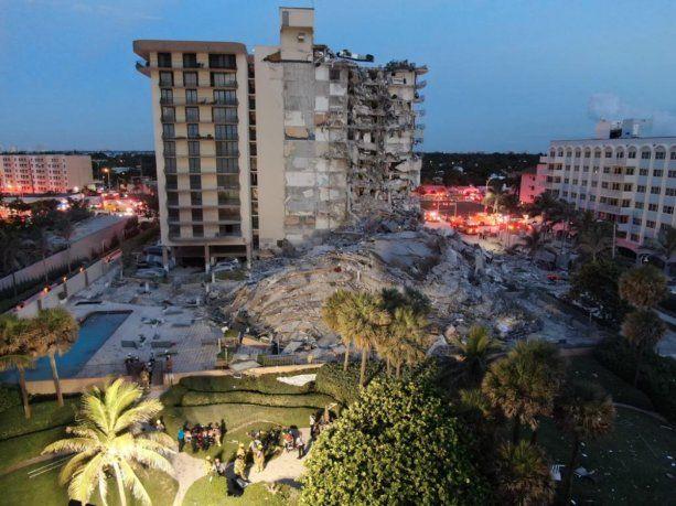 Confirmado: hay cuatro argentinos desaparecidos por el derrumbe de un edificio en Miami
