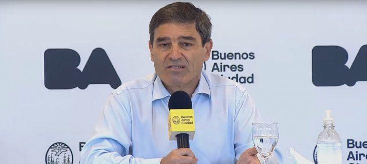 Quirós, sobre la situación sanitaria de la Ciudad: Hay consenso sobre medidas para la nocturnidad, el transporte y las reuniones sociales