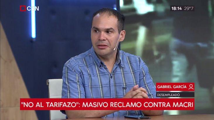 Gabriel García perdió su trabajo tras 11 años