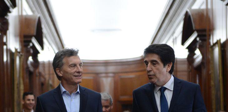 Mauricio Macri y Carlos Melconian