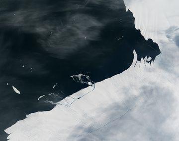 Detectan el desprendimiento de un témpano seis veces más grande que la Ciudad de Buenos Aires en la Antártida
