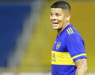 Incidentes con jugadores de Boca: Marcos Rojo intentó agredir a un policía con un matafuegos