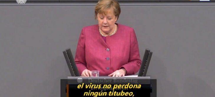 Este es el discurso de Merkel al que hizo referencia el Presidente en su conferencia