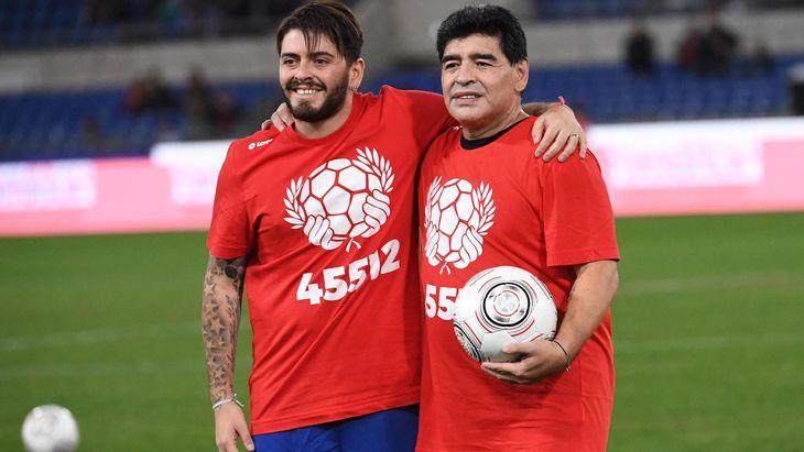 Diego Junior y Diego Maradona