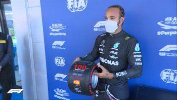 lewis hamilton logro su pole 100 y larga adelante de todos en el gran premio de espana de f1