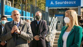 inauguraron una estacion del tren belgrano norte tras ser renovada
