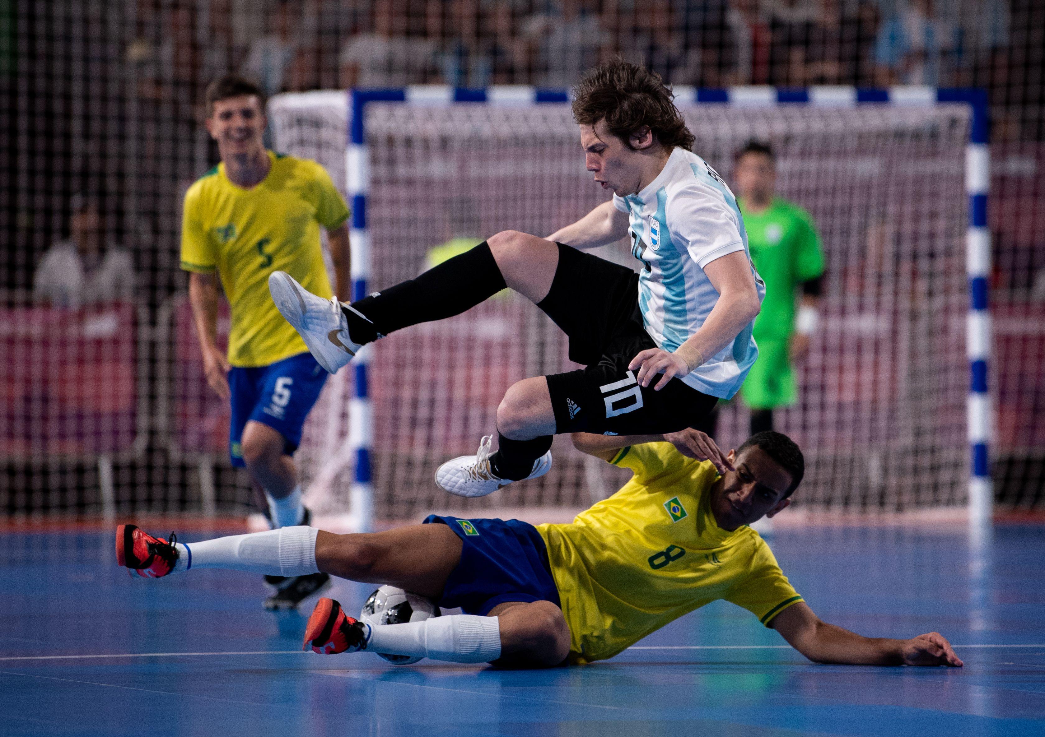 Argentina cayó ante Brasil en el futsal olímpíco de la juventud