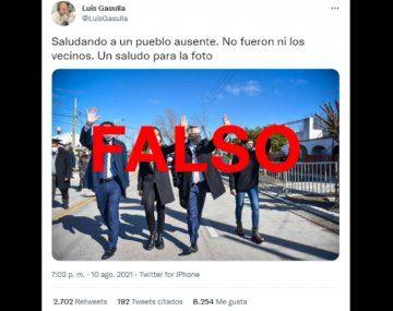 Es falso que no asistieron ni los vecinos a un acto encabezado por Fernández y Tolosa Paz en Quilmes