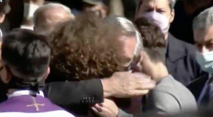 El presidente Alberto Fernández en la despedida a Mario Meoni