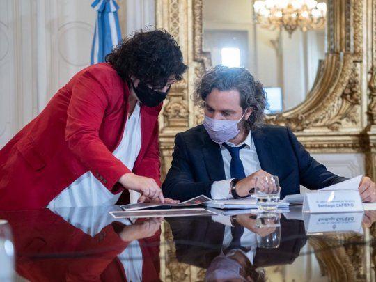 Santiago Cafiero y Carla Vizzotti se reúnen con expertos para analizar  medidas