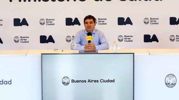 El ministro de Salud porteño Fernán Quirós