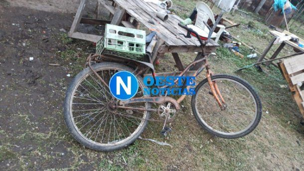 La bicicleta hallada durante la búsqueda de Maia