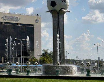 La sede de la Confederación Sudamericana deFútbol(Conmebol) en Luque, Paraguay