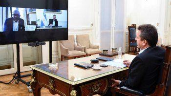 sergio massa agradecio al presidente de la comision de relaciones exteriores de estados unidos por el apoyo a la argentina ante el fmi