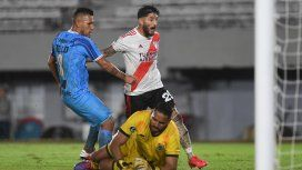 Milton Casco abrió el marcador para River ante Deportivo Binacional: fue un contundente 8 a 0 en el primer partido como local del Millonario en la Copa Libertadores 2020