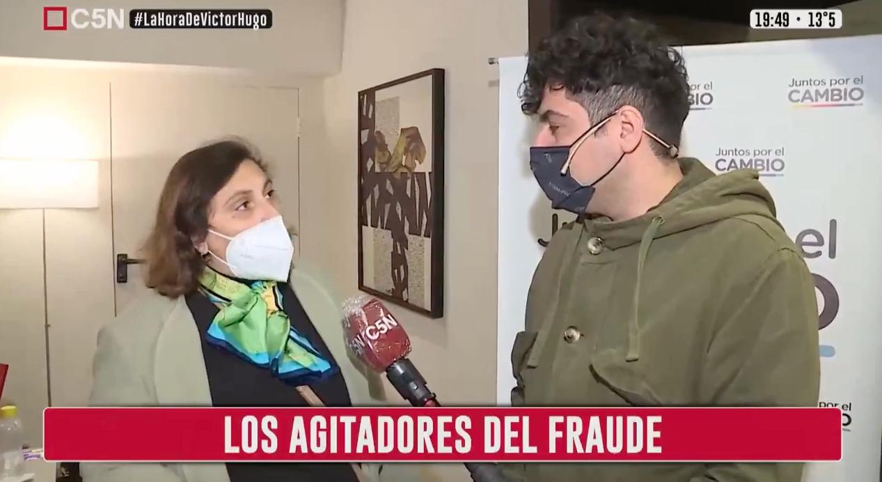 En C5N: Lautaro Maislin deja expuesta a Oliveto y Víctor Hugo se hace un picnic