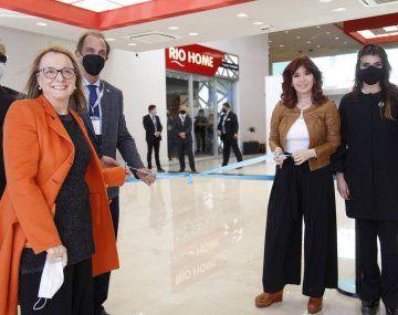 Alicia y Cristina Kirchner en la inauguración de la zona franca de Santa Cruz - @aliciakirchner