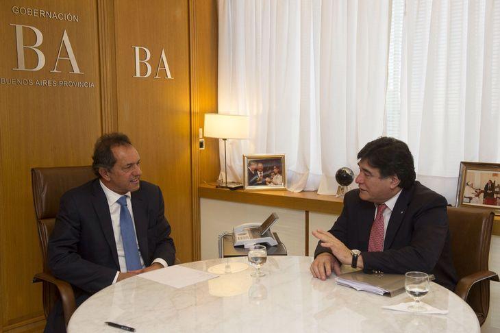 Scioli y Zannini comenzaron a trabajar en la agenda de campaña