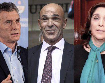 Mauricio Macri, Gustavo Arribas ySilvia Majdalani
