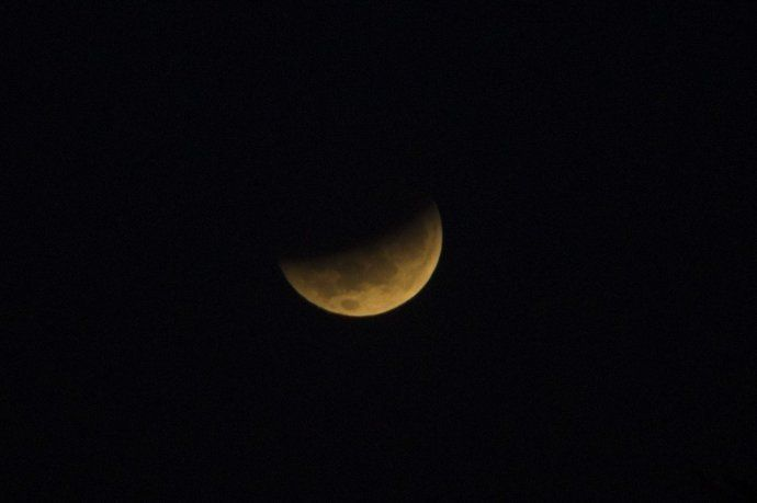El eclipse lunar visto desde Entre Ríos