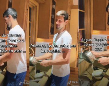 Literal: A Djokovic lo mandaron a lavar los platos