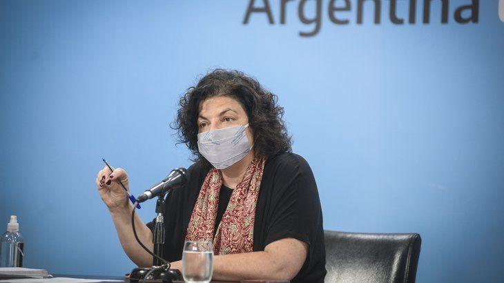 Carla Vizzotti recibió la primera dosis de la vacuna contra el coronavirus