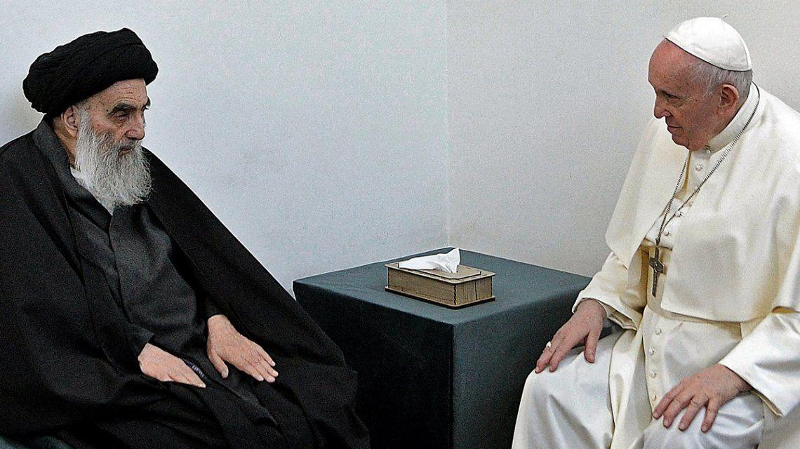 El Papa se reunió con el gran ayatollah Ali al-Sistani en Irak