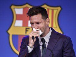 Messi no quiso hablar de Javier Tebas