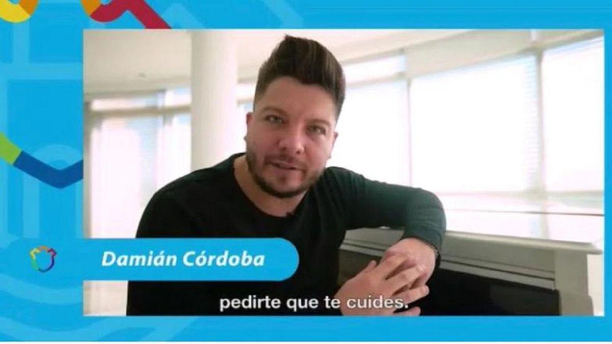 El video de Damián Córdoba en que pedía cuidarse del covid