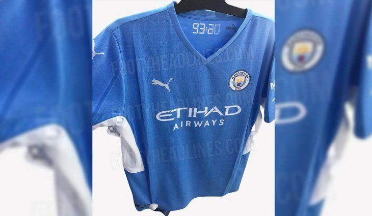 La nueva camiseta de Manchester City que homenajeará al Kun Agüero