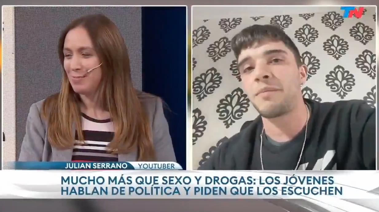 Joven del PRO fue a apoyar a Vidal a la TV y terminó haciendo un papelón