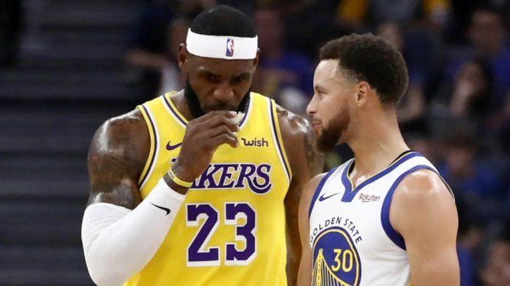 NBA: LeBron James y Stephen Curry