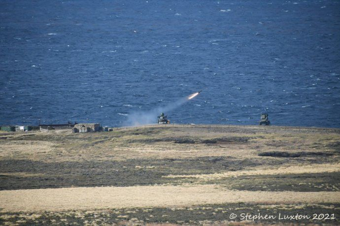 Ingleses realizan ejercicios militares con misiles en las islas Malvinas