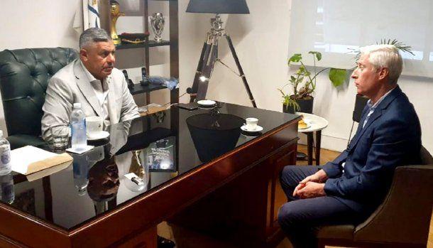 Claudio Tapia junto a Gustavo Coria, Jefe de Gabinete de Ministros de la Ciudad de Buenos Aires.