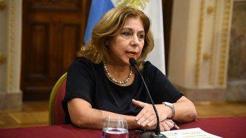 Ministra de Salud, Sonia Martorano.