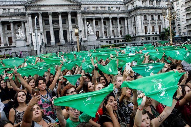 Pañuelazo verde en el Congreso