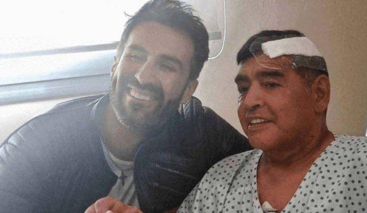 Leopoldo Luque y Diego Maradona