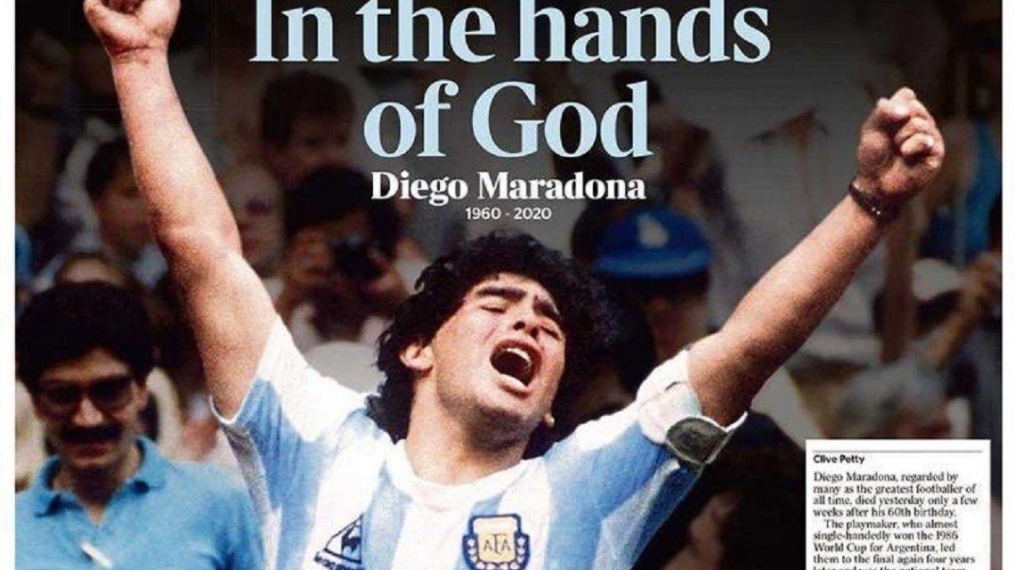 El adiós a Maradona es tapa de los principales diarios del mundo