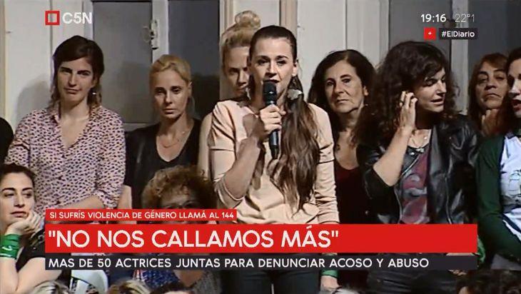 Actrices Argentinas brinda una conferencia de prensa