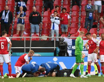 Euro 2020: se desmayó Cristian Eriksen en Dinamarca - Finlandia