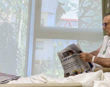 Mejoró el estado de salud de Carlos Reutemann y recibiría el alta